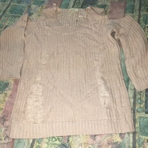 Sweaters - No shoulder sweater